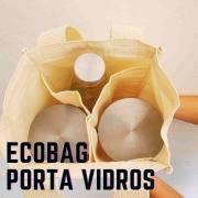 Sacola Reutilizável 100% algodão para levar vidros, garrafas e latas nas compras à granel
