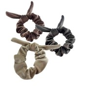 Prendedor Scrunchie Amarrador Frufru Lacinho de Cabelo Kit com 3 unidades confeccionado com RESÍDUO TÊXTIL