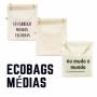 Bolsa tipo Sacola de Algodão Cru para compras tema SUSTENTABILIDADE. Não use Sacola Plástica!