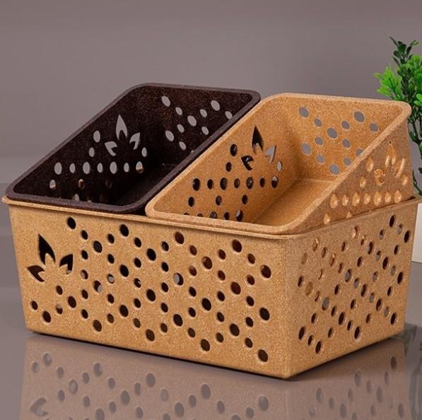 Cesto Organizador tamanho grande G de matéria-prima sustentável para arrumação e organização geral da casa