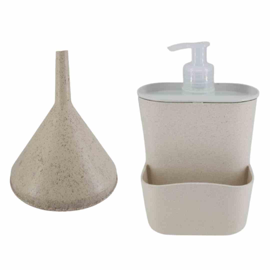 Dispenser para detergente ou sabonete líquido. Acompanha funil.