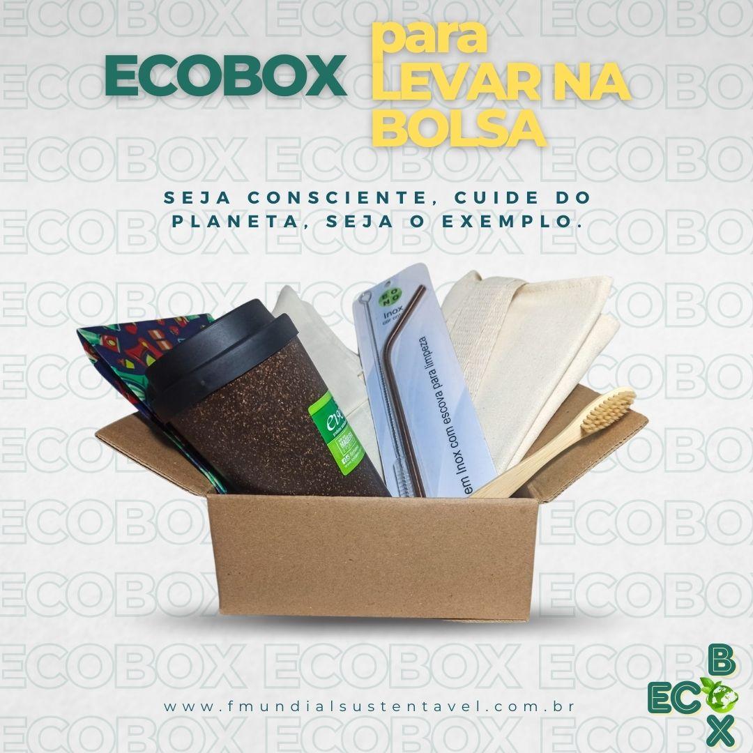 ECOBOX - Para levar na bolsa! Essa caixinha reune tudo de mais importante para ter na bolsa e reutilzar, evitando o lixo plástico!
