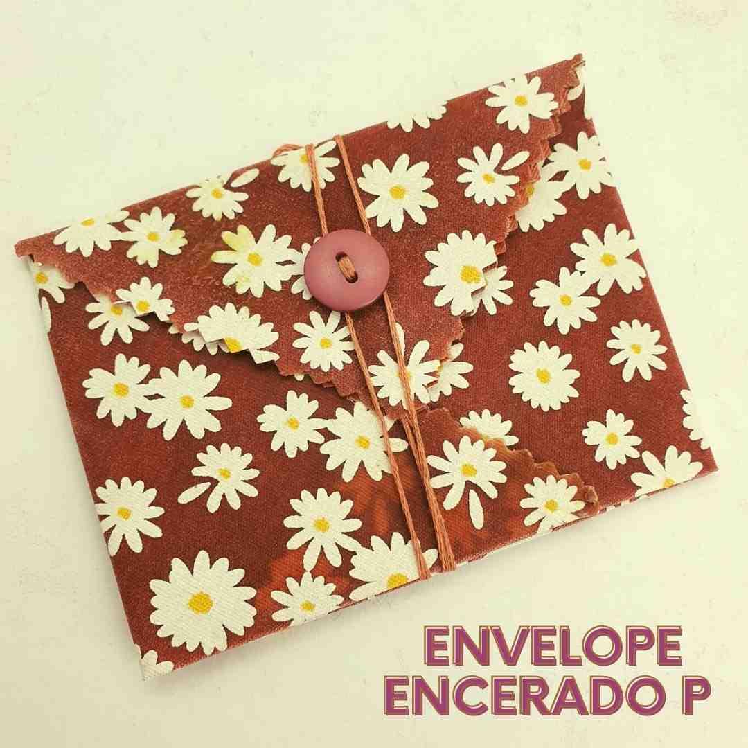 Envelope pequeno de pano encerado ECOenvelope  - Não use mais plástico filme ou papel alumínio!