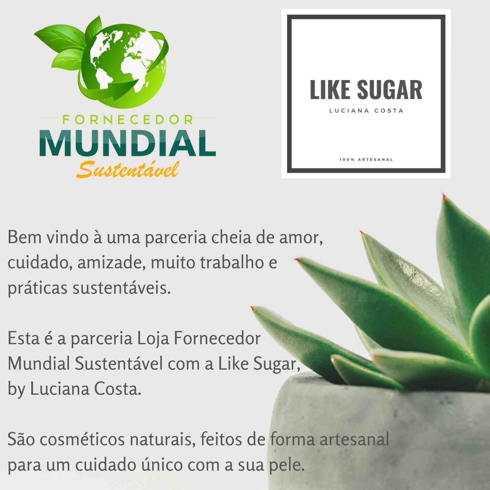 Esfoliante Corporal Limão Siciliano e Chá Branco Cosmético Natural Artesanal Like Sugar