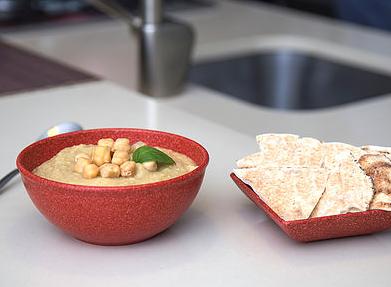 Jogo de 6 Tigelas Cumbuca média  de matéria-prima sustentável para casa, cozinha e sobremesa 700ml