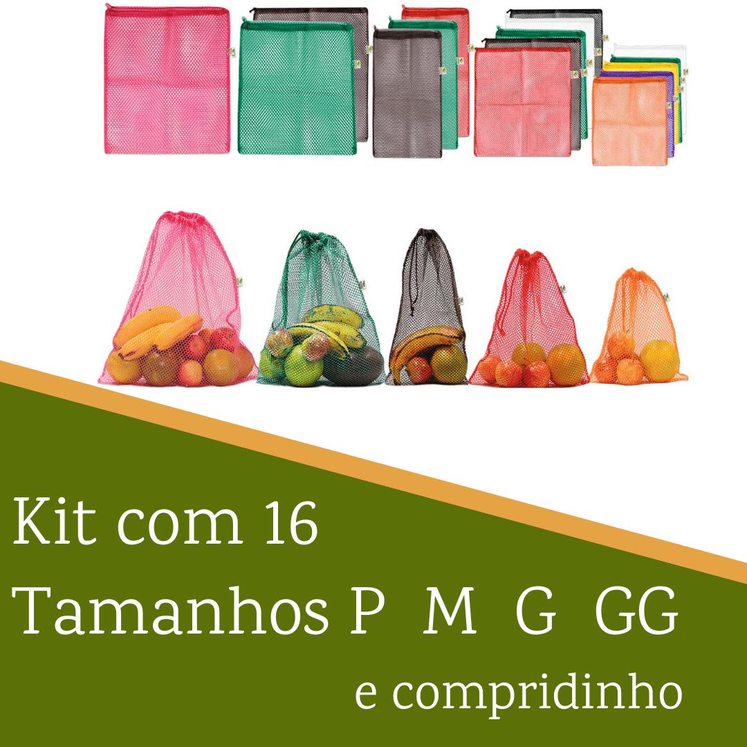 Kit com 16 saquinhos | Tamanhos P M G GG e compridinho