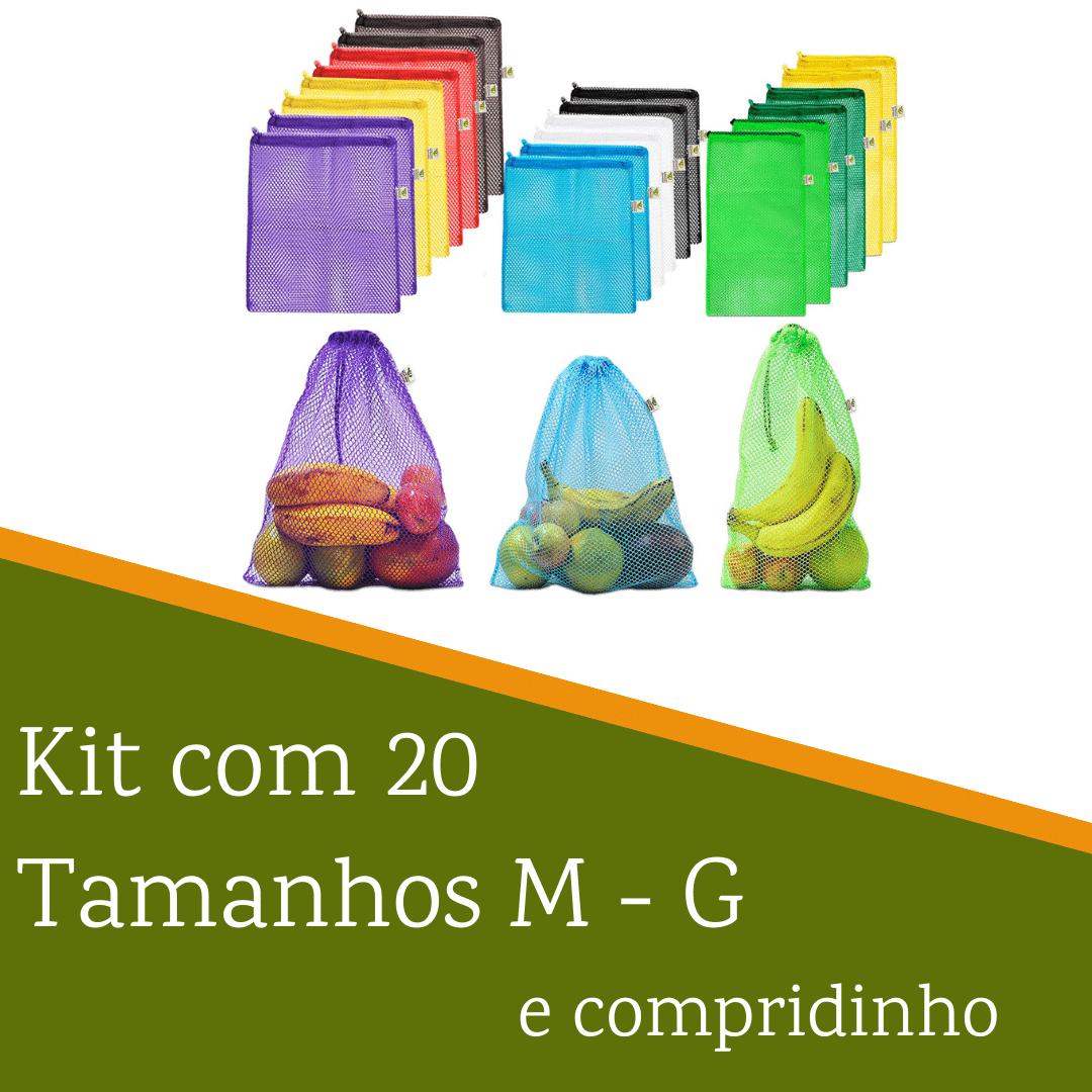 Kit com 20 saquinhos | Tamanhos M G e compridinho