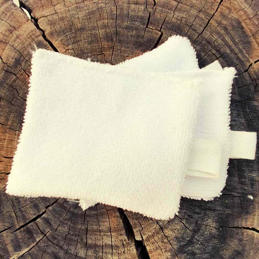 Kit com 3 ecopad atoalhada para limpeza facial extra macio para remover maquiagem e limpeza do rosto