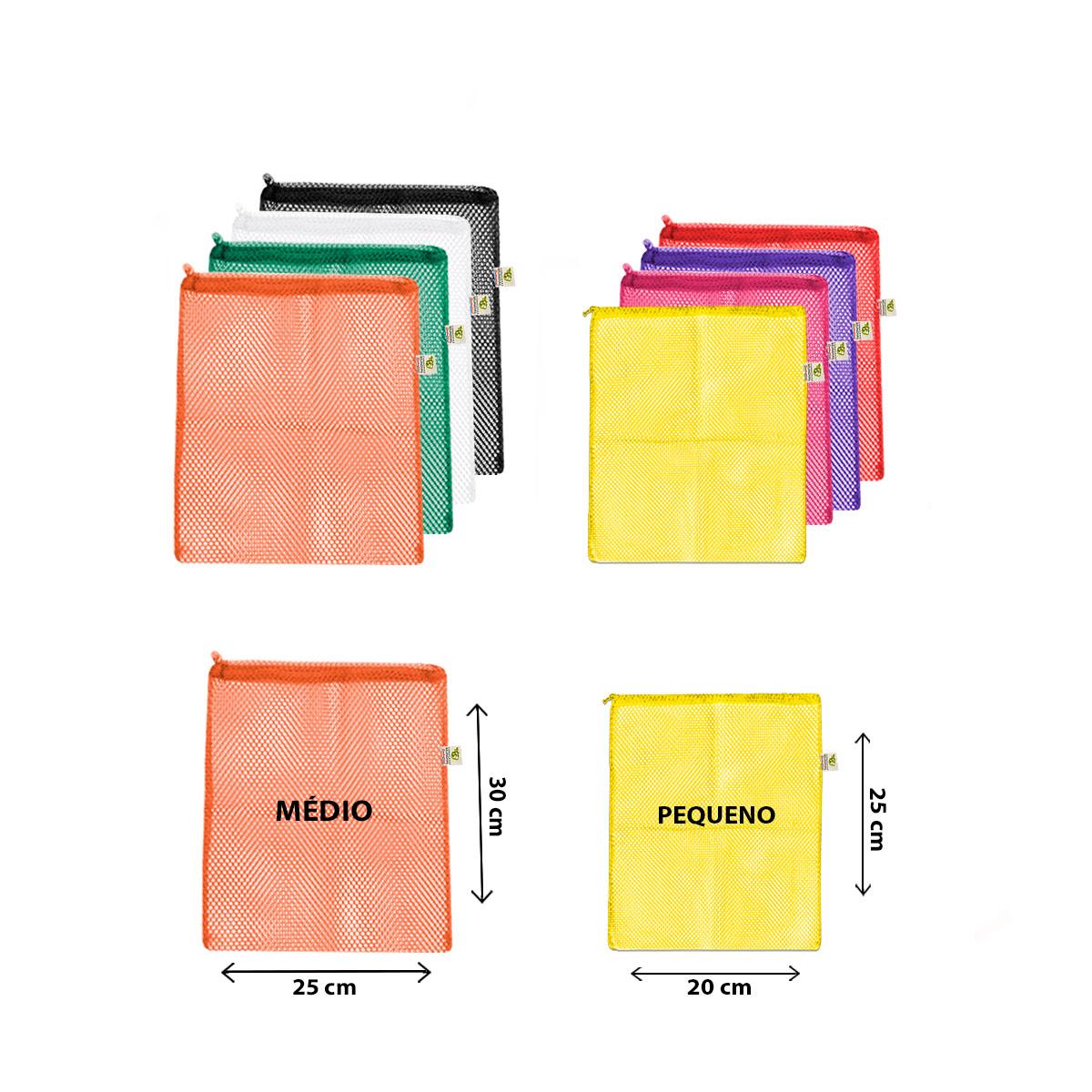 Kit com 8 saquinhos |Tamanhos  P e M