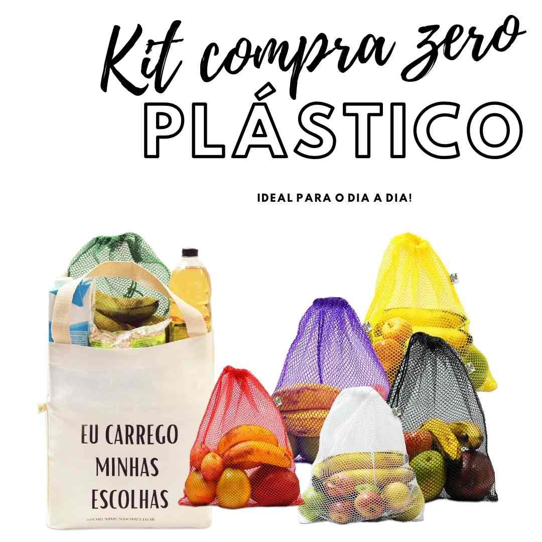 Kit Compra ZERO Plástico! - Ideal para o dia a dia!
