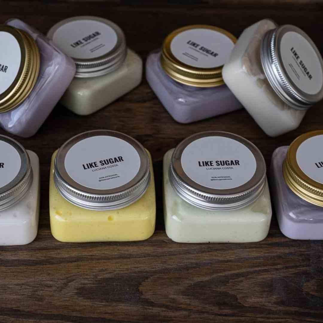 Menu Degustação de Manteiga Corporal 4 aromas diferentes Cosmética Natural Artesanal Like Sugar