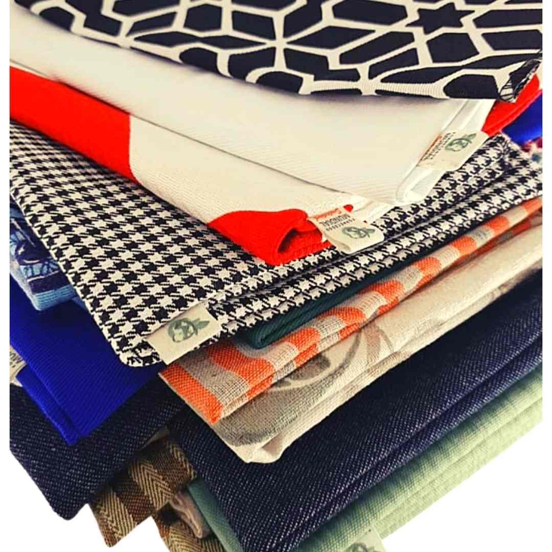PRESENTE SEM PLÁSTICO! Kit com 4 embalagens para presente feitas com resíduo têxtil