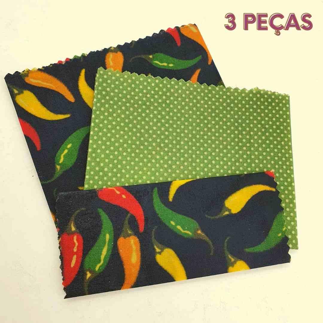 Pano encerado ECOwrap  - Kit com 3 panos de cera - Não use mais plástico filme ou papel alumínio!