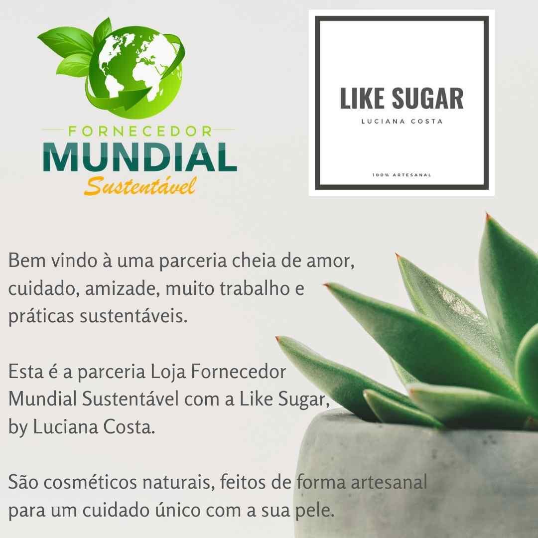 Sabonete em barra esfoliante de Aveia e Mel Like Sugar Linha Cosmética Sustentável