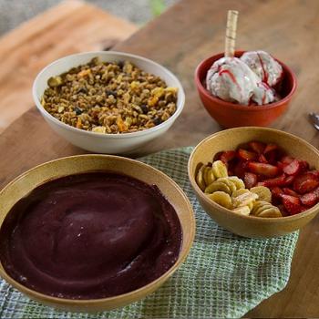 Travessa Saladeira redonda  de matéria-prima sustentável para casa e cozinha