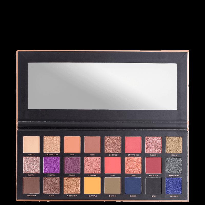 24 Eyeshadow Palette - Paleta com 24 tons de sombras para olhos 28g