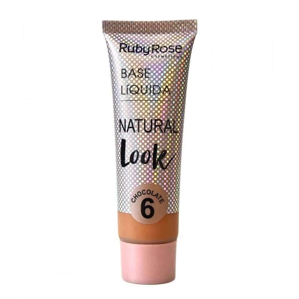 Base Líquida Natural Look Chocolate 06 - Ruby Rose