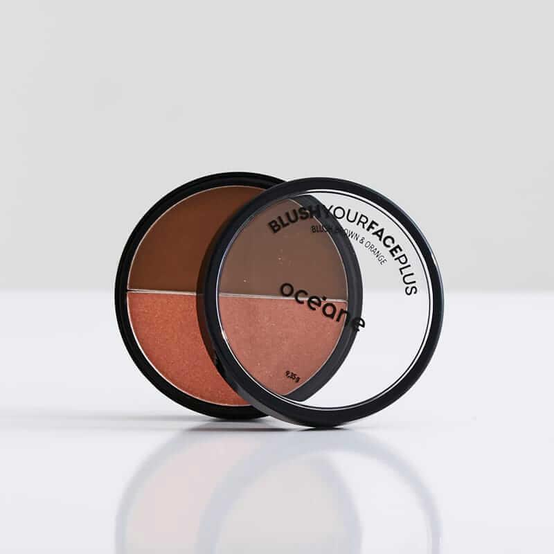 Blush em Pó Duo Brown Orange  - Your Face Plus - Océane