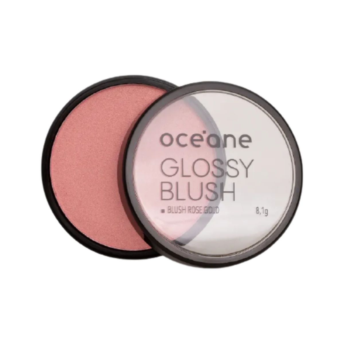 Blush Your Face Glossy Coral - Blush Cintilante Oceane
