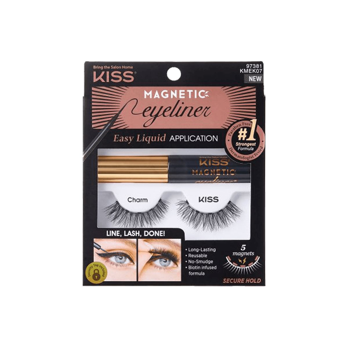 Cílios e Delineador Magnetic Eyeliner Charm - Kiss New York