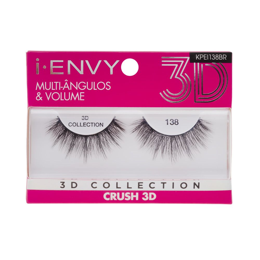 Cílios Postiços 3D Collection - Crush 138 - i-ENVY - Kiss New York