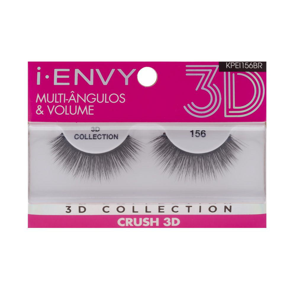 Cílios Postiços 3D Collection - Crush 156 - i-ENVY - Kiss New York