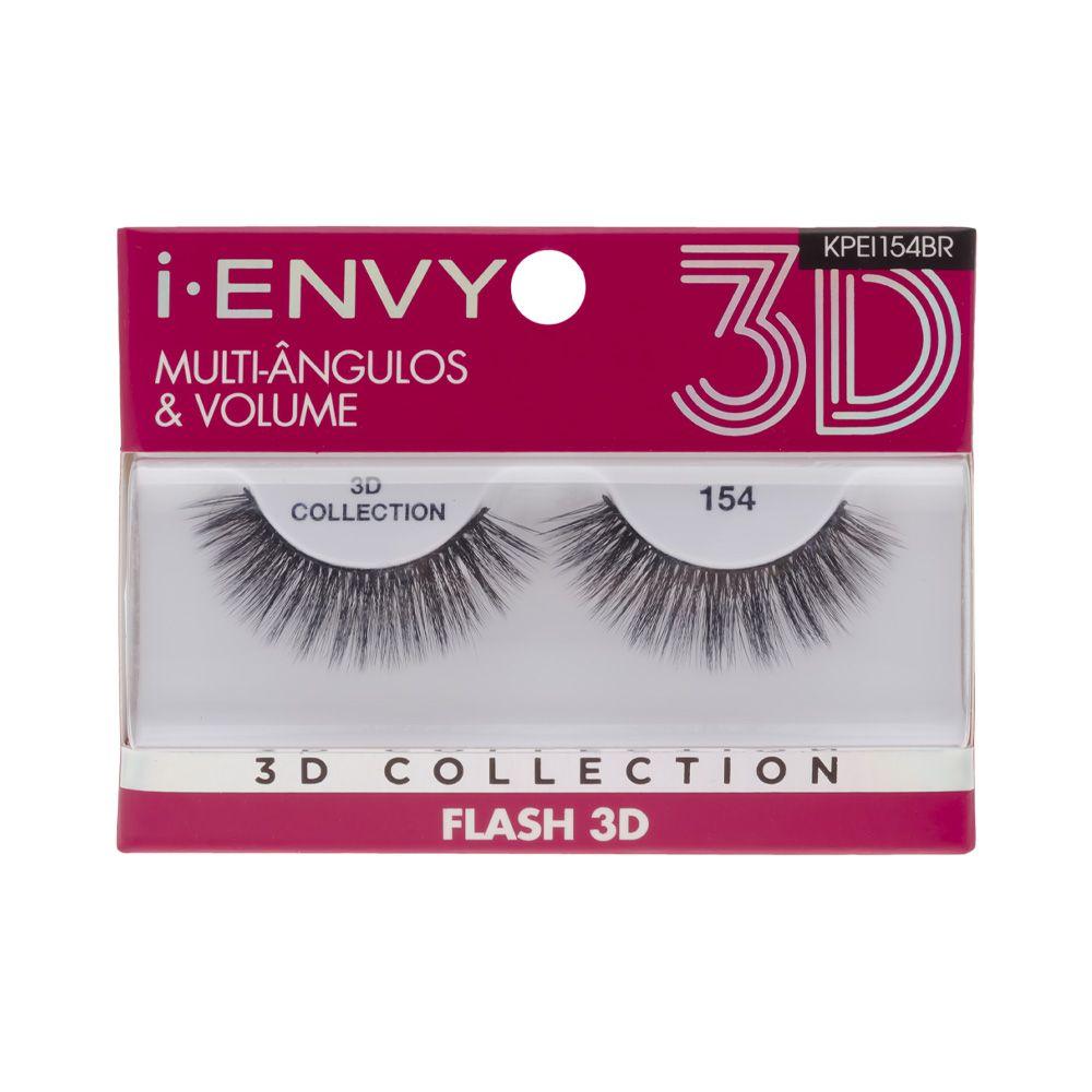 Cílios Postiços 3D Collection - Flash 154 - i-ENVY - Kiss New York