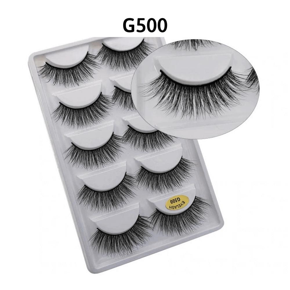 Cílios Postiços G500 - Caixa com 5 pares