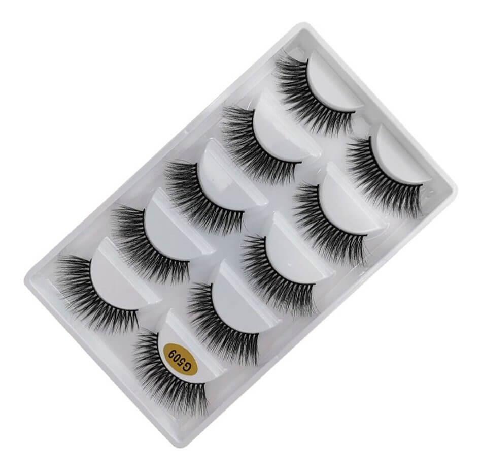 Cílios Postiços G509 - Caixa com 5 pares