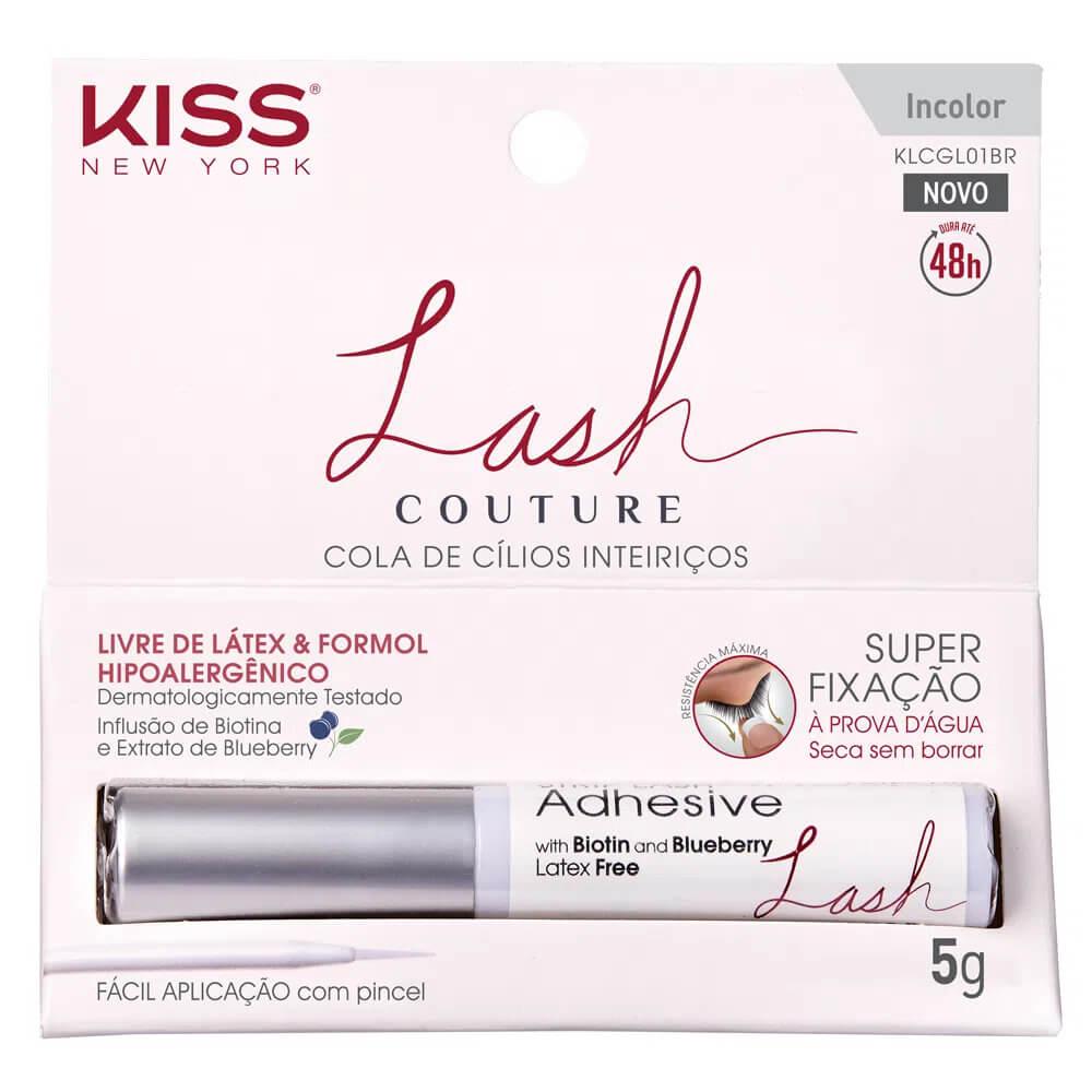 Cola para Cílios Postiços - Lash Couture 48h Incolor - Kiss New York RK By Kisses