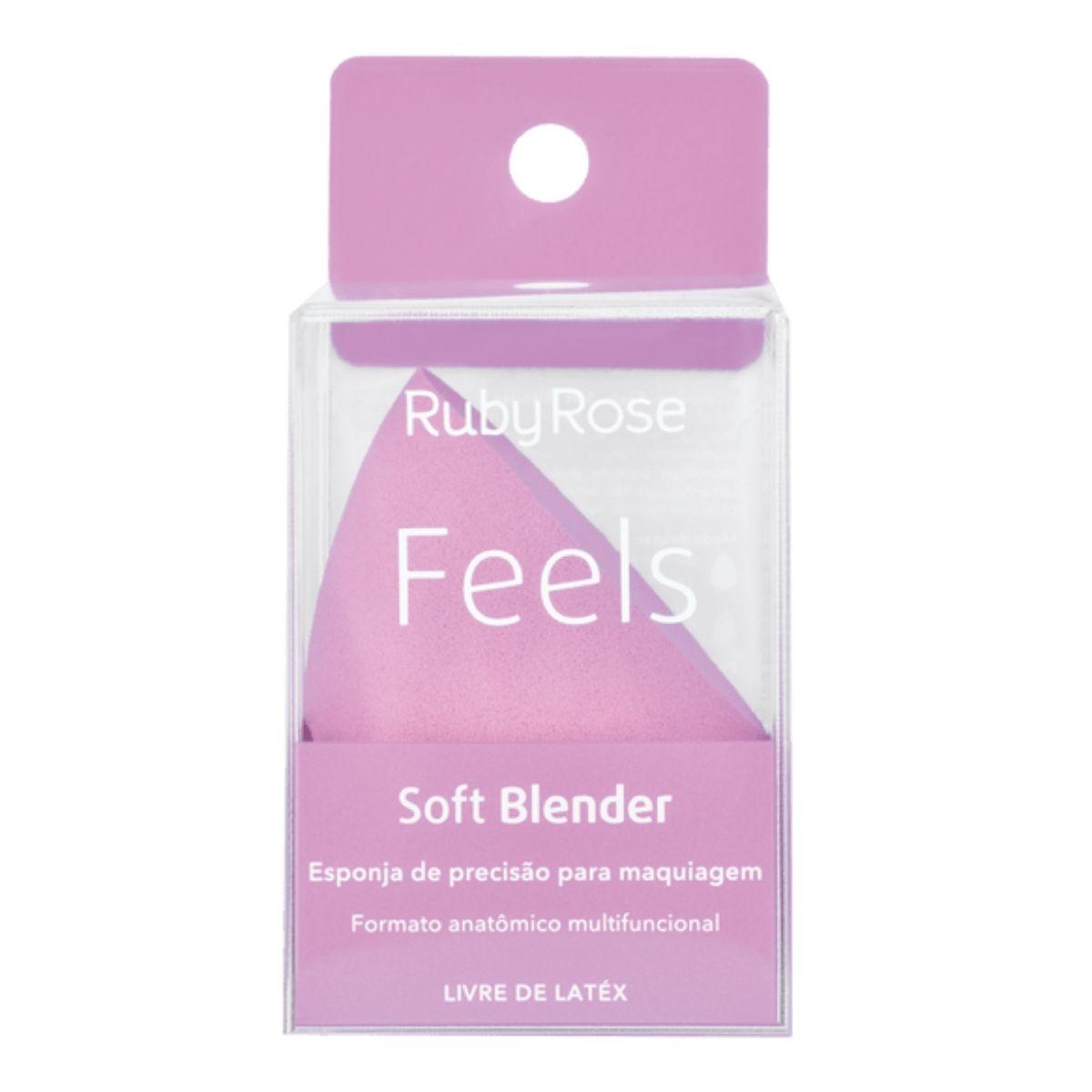 Esponja de Maquiagem Soft Blender Feels Ruby Rose HB-S01