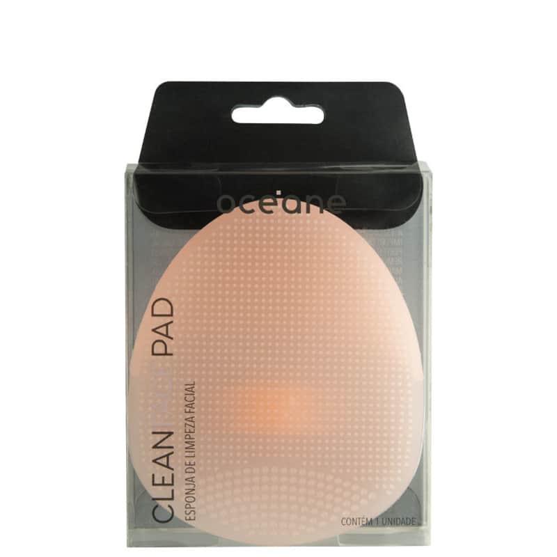 Esponja de Silicone para Limpeza Facial Océane Clean Face Pad Rosa