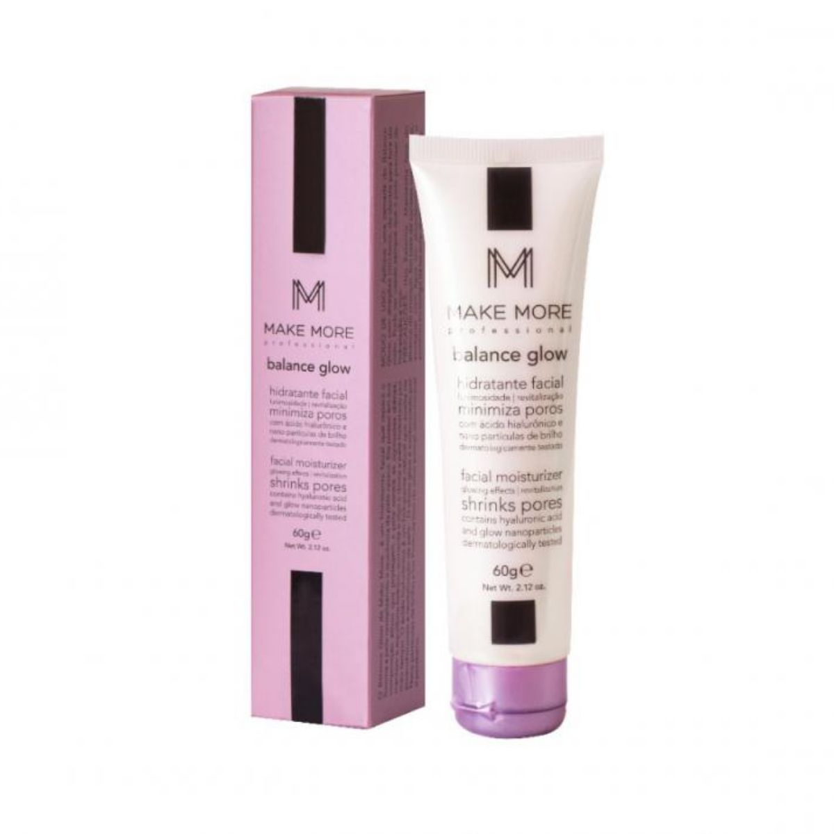 Hidratante Facial Balance Glow 60g Rose - Make More