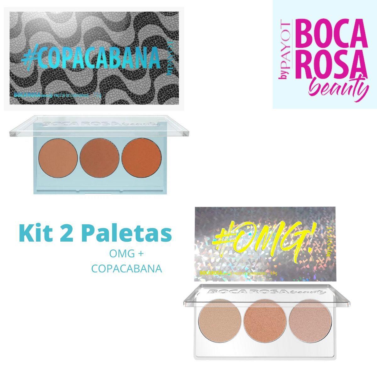 Kit 2 Paletas Boca Rosa ( Copacabana + OMG) by Payot
