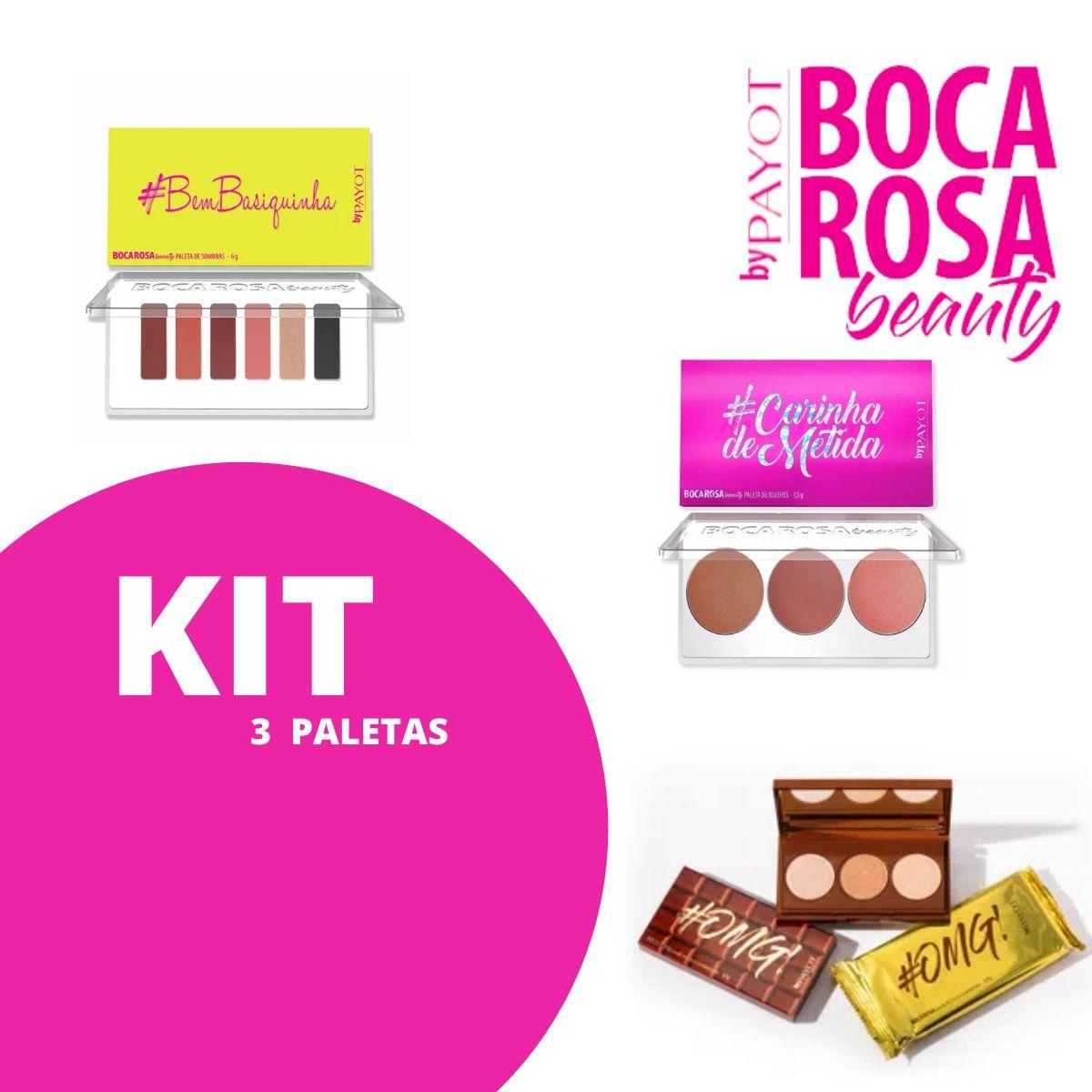 Kit 3 Paletas Boca Rosa - OMG Choco + Carinha de Metida + BemBasiquinha