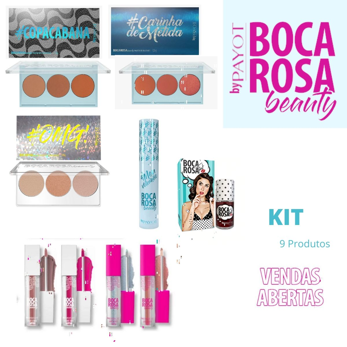 Kit Boca Rosa beauty by Payot - 9 Produtos