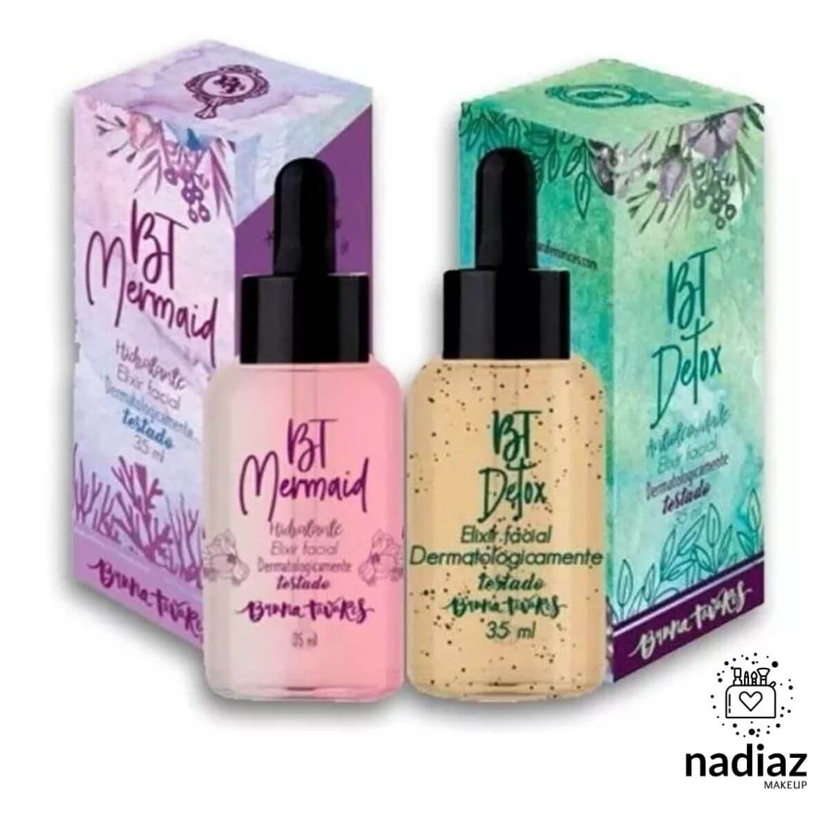 Kit Bt Detox + Bt Mermaid Elixir Facial Bruna Tavares