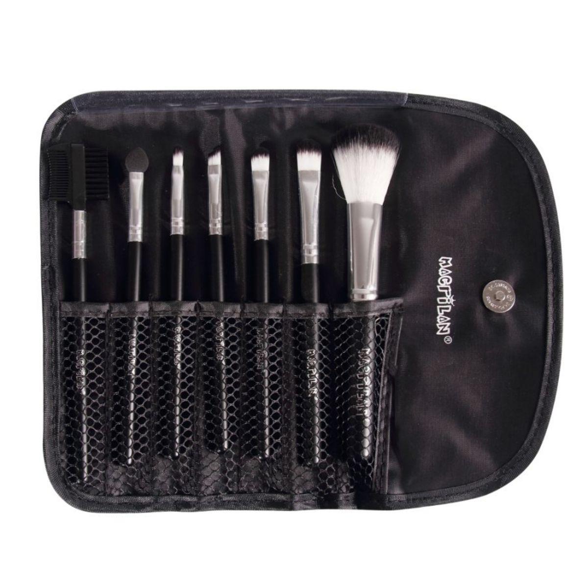 Kit KP1-3E com 07 pincéis para maquiagem Macrilan