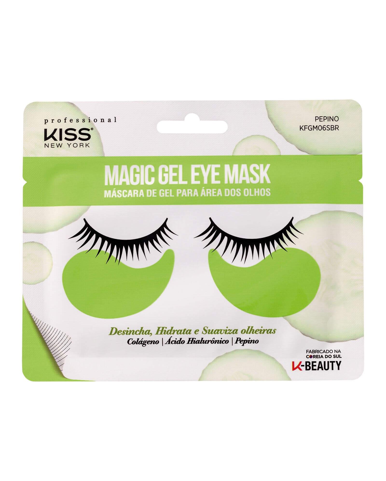 Máscara de Gel Para Área dos Olhos Magic Gel Eye Mask Pepino Kiss New York 7g