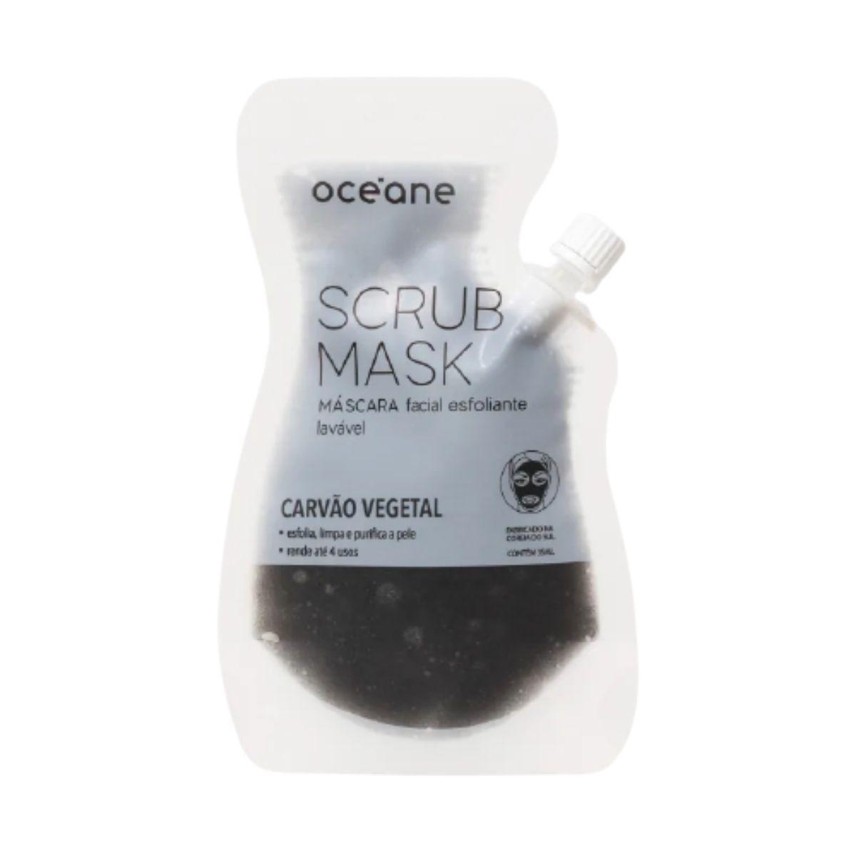 Máscara Facial Esfoliante Carvão Vegetal - Scrub Mask - Oceane