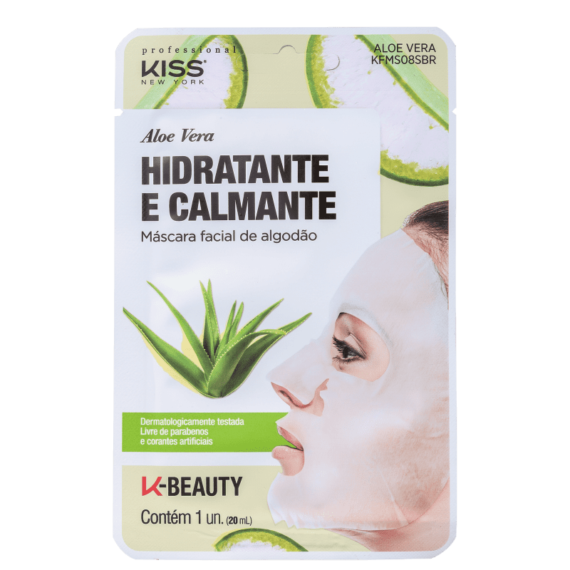Máscara Facial Kiss New York Aloe Vera Hidratante e Calmante - 20ml