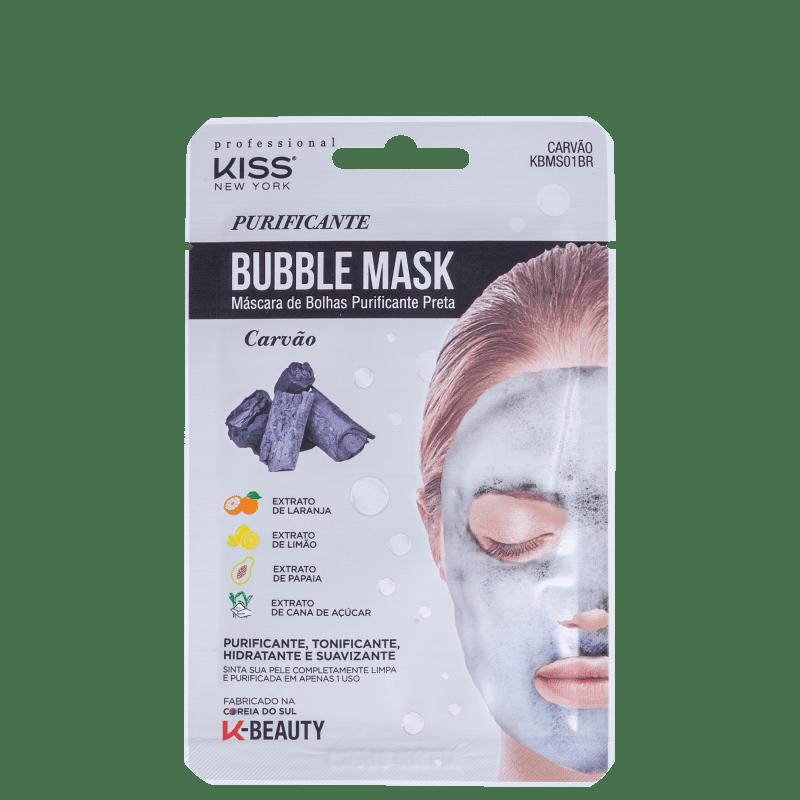 Máscara Facial Kiss New York Bubble Purificante Preta - 20ml