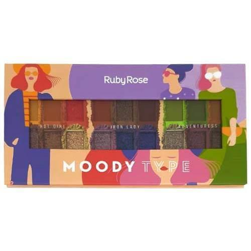 Paleta de Sombras Moody Type - Ruby Rose HB - 1054