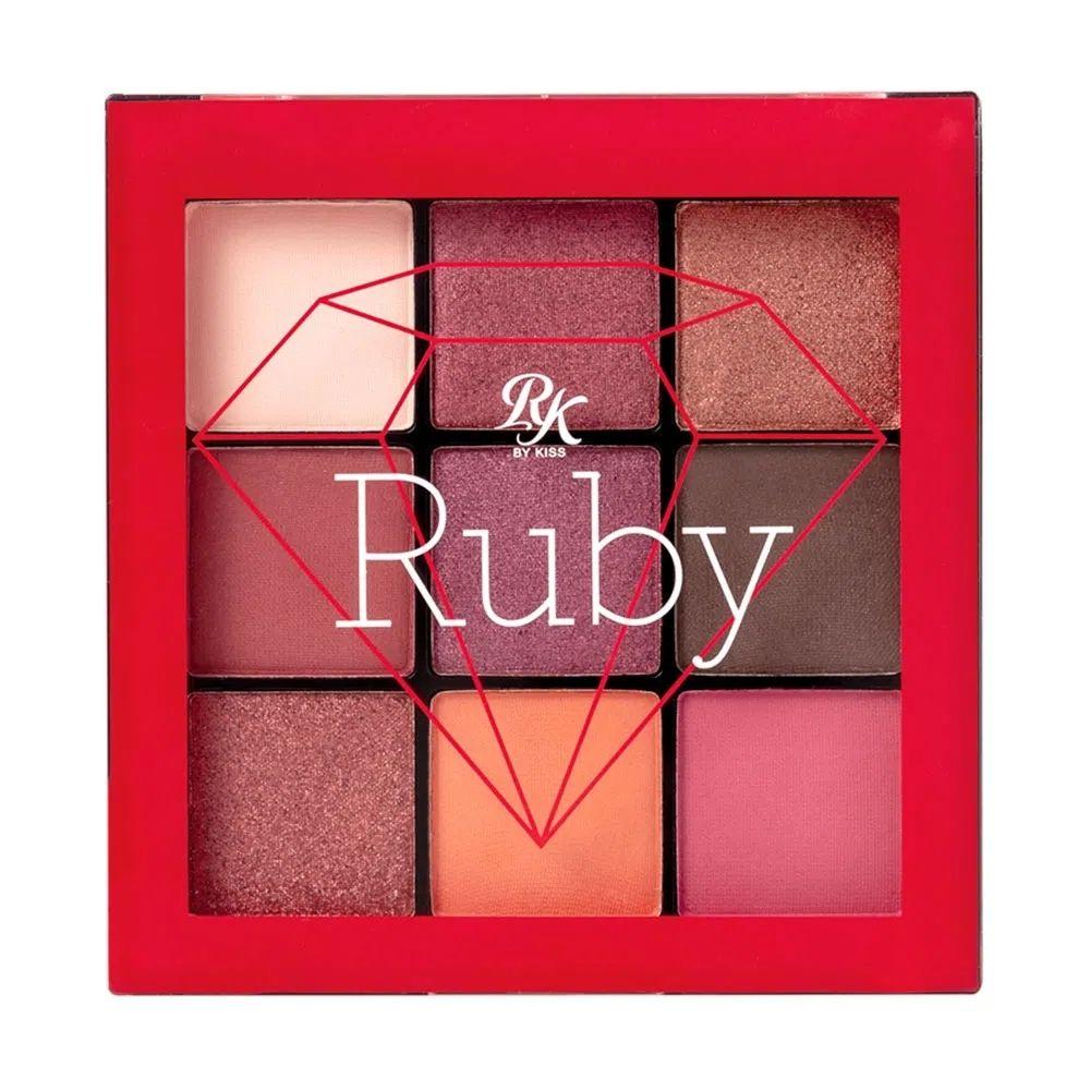 Paleta de Sombras RK by Kiss - 9 Cores - Ruby