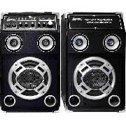 Caixa De Som Amplificadora 130w Usb/cartão Sd/ Ent.aux/ Mic.