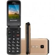 Celular Flip Vita 3g Dourado Dual Chip Quadriband P9043