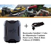 Rastreador Via Satélite Trace + Cabo (COMBO) Para Bens Valiosos Globalstar (spot)