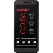 "Smartphone Semp GO 5C Tela 5"" Quadcore 1GB RAM Câm 8MP + Frontal 5MP 16GB"