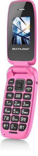 Celular Rosa Com Teclas Grandes, Dual Chip, Câmera (novo)