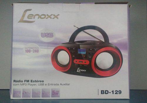 - Rádio Cd Player Fm Estéro, Mp3 E Usb, 5w Rms Bd-129